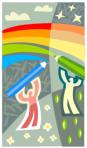 making rainbow