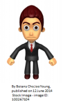 Frowning businessman