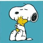 snoopy and bird