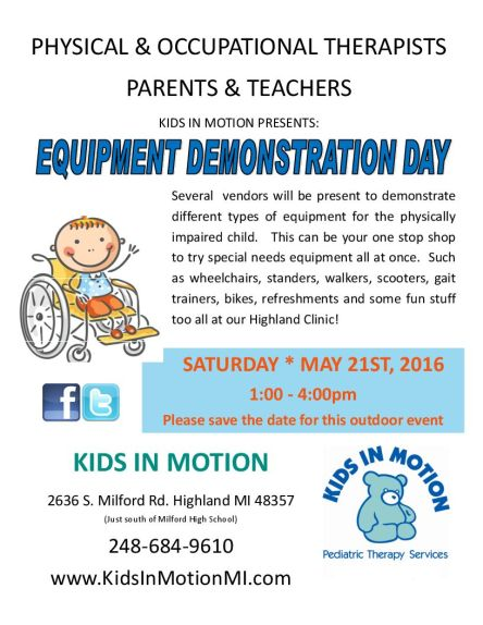 2016 Equipment Vendor Day Flyer