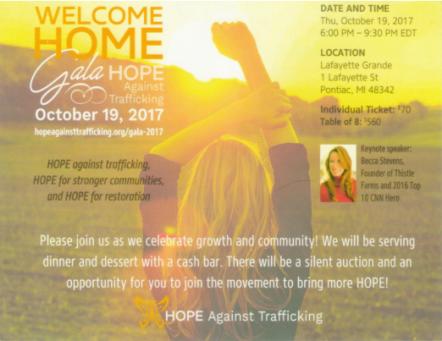 Hope Gala invite